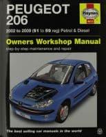 Haynes Manual Peugeot 206 2002-09 1.1 1.4 1.6 2.0 Petrol 1.4 2.0 Diesel